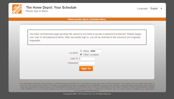 Www Mythdhr Com Your Schedule Home Depot Ess Login My Apron