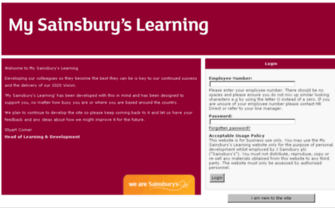 mysainsburyslearning.co.uk - My Sainsburys Learning
